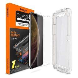 """Edzett üvegfólia SPIGEN GLAS.TR """"EZ FIT"""" iPhone XI 65 / iPhone XS Max kijelzőfólia üvegfólia tempered glass"""