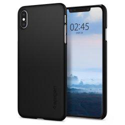 Spigen Vékony Fit ultravékony telefon tok iPhone XS Max fekete (fekete) tok telefon tok hátlap