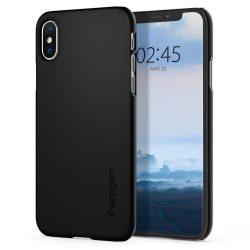 Spigen Vékony Fit ultravékony tok fedél iPhone XS / X black (fekete) tok telefon tok hátlap