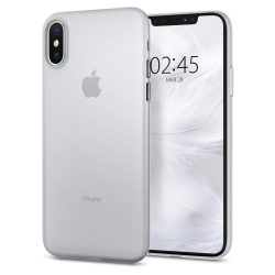 Spigen AirSkin ultravékony tok fedél iPhone XS / X fehér (Soft Clear) tok telefon tok hátlap