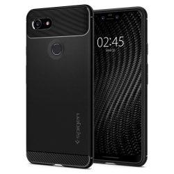 Spigen Robusztus Armor telefon tok Google Pixel 3 XL fekete (fekete) tok telefon tok hátlap