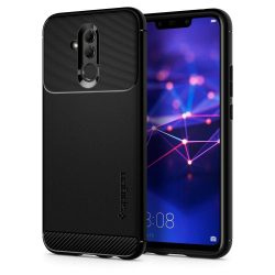 Spigen Robusztus Armor telefon tok Huawei Mate 20 Lite fekete telefon tok telefontok (hátlap)