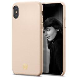 Spigen La Manon Calin telefon tok iPhone XS Max rózsaszín (halvány rózsaszín) tok telefon tok hátlap