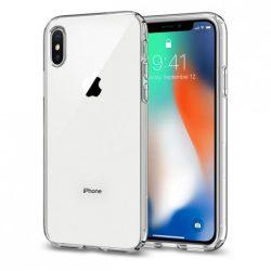 Spigen Liquid Crystal telefon tok iPhone XS / X egyértelmű tok telefon tok hátlap
