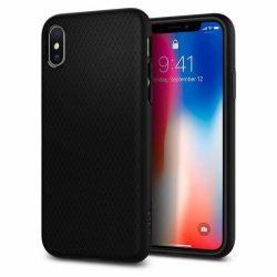 Spigen Liquid Air Armor telefon tok iPhone XS / X fekete tok telefon tok hátlap