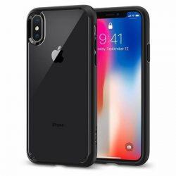 Spigen Ultra hibrid telefon tok iPhone XS / X fekete tok telefon tok hátlap