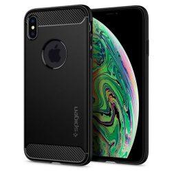 Spigen Robusztus Armor telefon tok iPhone XS Max fekete (065CS25125) telefon tok telefontok