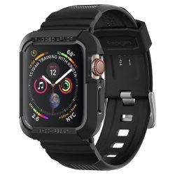 "SPIGEN RUGGED páncél ""PRO"" Apple Watch 4 (44MM) BLACK védőtok az órára"