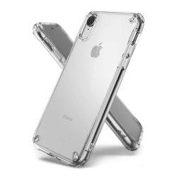 Ringke Fusion PC telefon tok telefontok TPU bumper iPhone XR átlátszó (FSAP0033-RPKG)