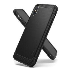 Ringke Onyx Tartós TPU tok telefon tok hátlap iPhone XS / X fekete (OXAP0011-RPKG)