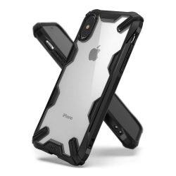 Ringke Fusion X tartós PC telefon tok telefontok TPU bumper iPhone XS / X fekete (FUAP0005)