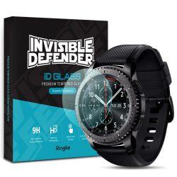 Ringke Invisible Defender 4x ID üveg Edzett üveg 2,5D 0,33 mm Samsung Gear S3 / Galaxy Watch 46mm (IGSG0011 - RPKG) kijelzőfólia üvegfólia tempered glass