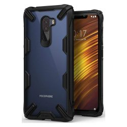 Ringke Fusion X tartós PC telefon tok telefontok TPU bumper Xiaomi Pocophone F1 fekete (FXXI0001)