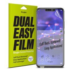 Ringke Dual Easy Film 2x Self portalanító képernyővédő fólia Huawei Mate 20 Lite (ESHW0001) kijelzőfólia üvegfólia tempered glass