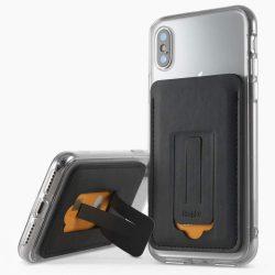 Ringke Multi Card Holder Hitelkártya Wallet Mini tok telefontok hátlap multifunkciós Attachment állvány Okostelefonok fekete (ACFC0024)