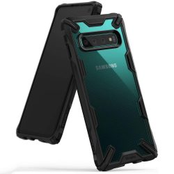 Ringke Fusion X tartós PC telefon tok telefontok TPU bumper Samsung Galaxy S10 fekete (FUSG0008)