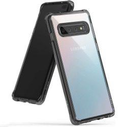 Ringke Fusion PC tok telefon tok hátlap TPU bumper Samsung Galaxy S10 Plus fekete (FSSG0059-RPKG)