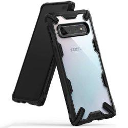 Ringke Fusion X tartós PC telefon tok telefontok (hátlap) TPU bumper Samsung Galaxy S10 Plus fekete (FUSG0010)