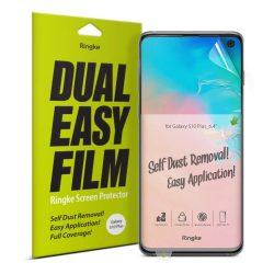 Ringke Dual Easy Film 2x önálló portalanító képernyő védő Samsung Galaxy S10 Plus (ESSG0009) kijelzőfólia