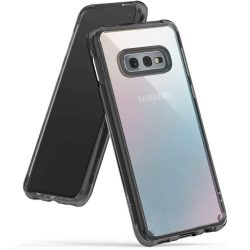 Ringke Fusion PC tok telefon tok hátlap TPU bumper Samsung Galaxy S10e fekete (FSSG0062-RPKG)
