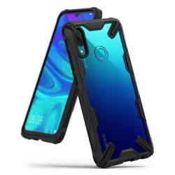 Ringke Fusion X tartós PC telefon tok telefontok (hátlap) TPU bumper Huawei P smart 2019 fekete (FXHW0011)
