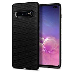 SPIGEN cseppfolyós levegő GALAXY S10 + PLUS matt fekete Samsung Galaxy telefon tok telefontok (hátlap)