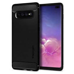 SPIGEN RUGGED ARMOR GALAXY S10 + PLUS matt fekete Samsung Galaxy telefon tok telefontok (hátlap)