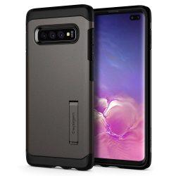 SPIGEN TOUGH ARMOR GALAXY S10 + PLUS Gunmetal Samsung Galaxy tok telefon tok hátlap