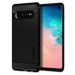 SPIGEN RUGGED ARMOR GALAXY S10 matt fekete Samsung Galaxy telefon tok telefontok