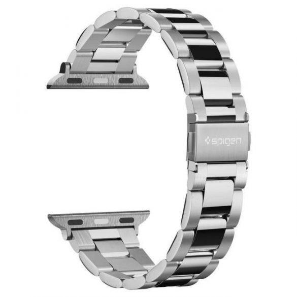 Spigen Modern Fit óraszíj Apple Watch 1/2/3/4/5 (38 / 40mm) Ezüst óraszíj