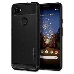 SPIGEN RUGGED ARMOR Google - Pixel 3A matt fekete tok telefon tok hátlap