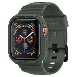 """SPIGEN RUGGED páncél """"PRO"""" Apple Watch 4 (44MM) katonai zöld tok telefon tok hátlap"""