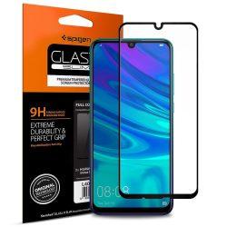 Edzett üvegfólia SPIGEN Edzett Üvegfólia FC HUAWEI P SMART 2019 BLACK kijelzőfólia üvegfólia tempered glass