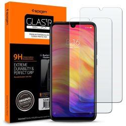 Edzett üvegfólia SPIGEN GLAS.TR SLIM 2 - PACK XIOAMI redmi 7 megjegyzés kijelzőfólia üvegfólia tempered glass