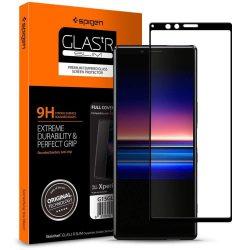Edzett üvegfólia SPIGEN Edzett Üvegfólia FC Sony Xperia 1 fekete kijelzőfólia üvegfólia tempered glass
