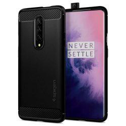 SPIGEN RUGGED ARMOR OnePlus 7 PRO matt fekete tok telefon tok hátlap