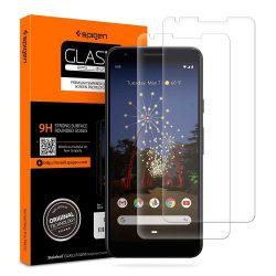 Edzett üvegfólia SPIGEN GLAS.TR SLIM 2 - PACK Google - Pixel 3A XL kijelzőfólia üvegfólia tempered glass