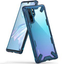 Ringke Fusion X tartós PC tok telefon tok hátlap TPU bumper Huawei P30 Pro kék (FXHW0016)
