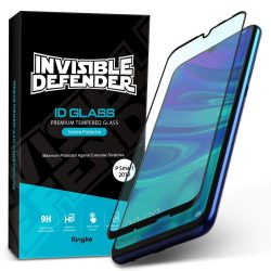 Ringke Invisible Defender ID Glass edzett üveg 0,33 9H teljes képernyős keret Huawei P smart 2019 fekete (IGHW0004-RPKG) kijelzőfólia üvegfólia tempered glass