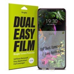 Ringke Dual Easy Film 2x Self portalanító képernyővédő fólia LG G8 ThinQ (ESLG0002) kijelzőfólia üvegfólia tempered glass