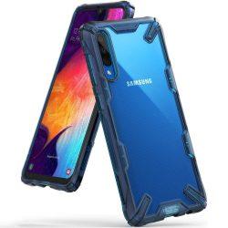 Ringke Fusion X tartós PC tok telefon tok hátlap TPU bumper Samsung Galaxy A50 kék (FUSG0022)