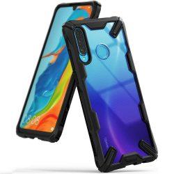 Ringke Fusion X tartós PC tok telefon tok hátlap TPU bumper Huawei P30 Lite fekete (FXHW0017)