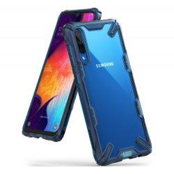 Ringke Fusion X tartós PC tok TPU Bumper tok Samsung Galaxy A70 kék (FUSG0026) telefon tok telefontok (hátlap)