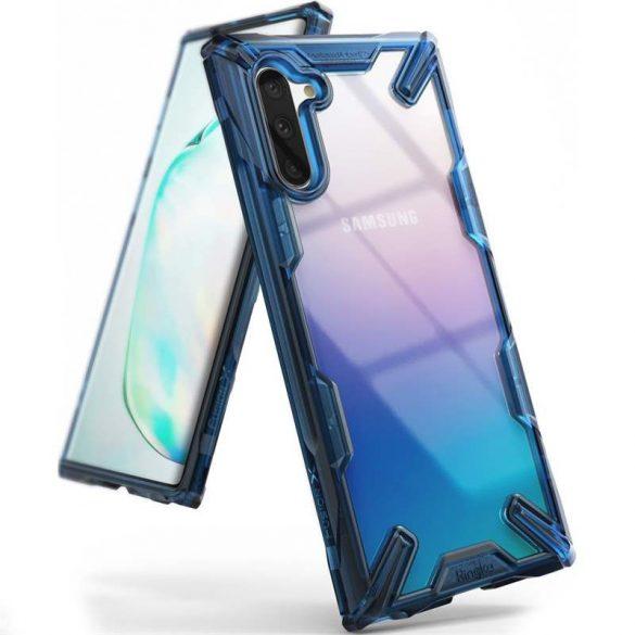 Ringke Fusion X tartós PC tok TPU Bumper tok Samsung Galaxy Note 10 kék (FUSG0028) telefon tok telefontok