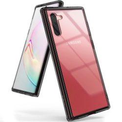 Ringke Fusion PC tok TPU Bumper tok Samsung Galaxy Note 10 Plus fekete (FSSG0070) tok telefon tok hátlap