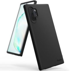 Ringke Air S Ultra - Thin Cover Gel TPU tok Samsung Galaxy Note 10 Plus fekete (ADSG0004) tok telefon tok hátlap