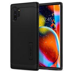 SPIGEN TOUGH ARMOR Galaxy Note 10+ PLUS BLACK tok telefon tok hátlap