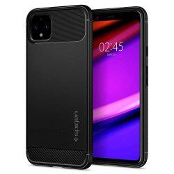 SPIGEN RUGGED ARMOR Google-Pixel BLACK 4 XL Matte telefon tok telefontok (hátlap)