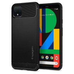 SPIGEN ARMOR RUGGED Google-Pixel 4 matt fekete tok telefon tok hátlap