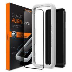 ALM SPIGEN edzett üveg üveg FC 11 fekete iPhonekijelzőfólia üvegfólia tempered glass